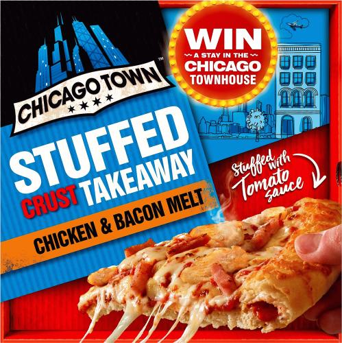 Chicago Town Tomato Stuffed Crust Takeaway Chicken & Bacon Melt 640g