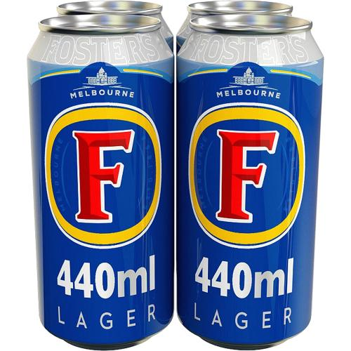Foster's Lager Beer 4x Cans 440ml