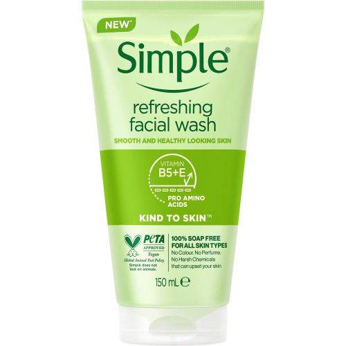 Simple Kind to Skin Refreshing Facial Gel Wash 150ml