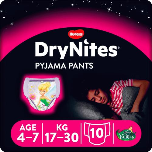 Huggies Dry Nites For Girls 4-7years 10 Pack
