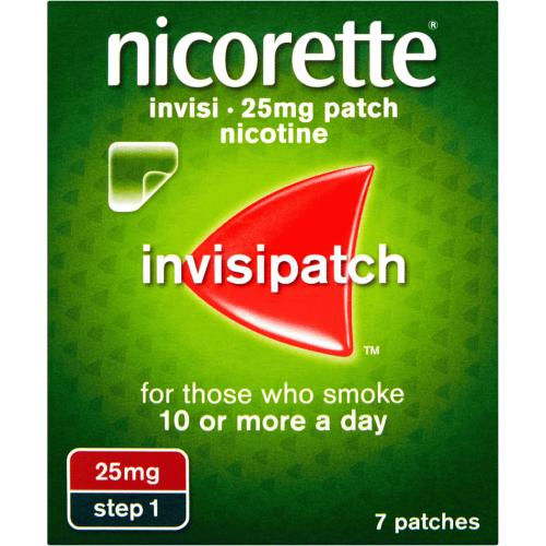 Nicorette 25mg Nicotine Invisi Patch Step 1 7 Pack