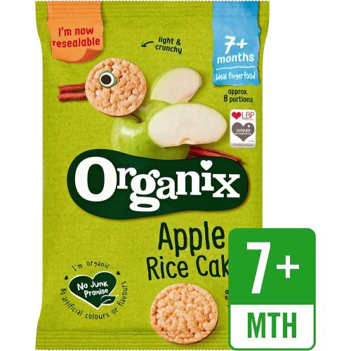 Organix Apple Organic Baby Finger Food Snack Rice Cakes 50g