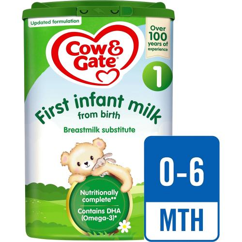 Cow & Gate 1 First Baby Milk Formula From Birth 800g