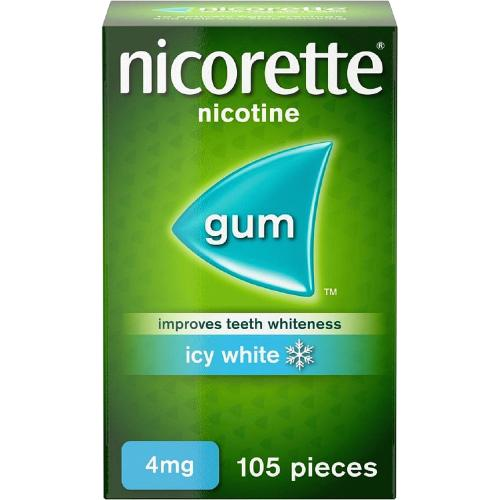 Nicorette Icy White Gum 4Mg 105S 105 Pack