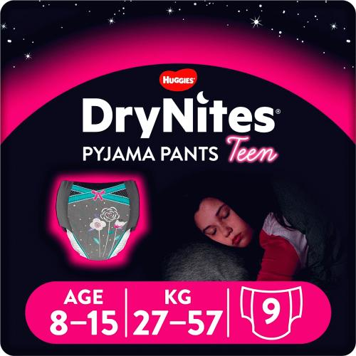 dry nites for girls 8-15years