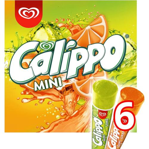 Calippo Orange & Lemon-Lime Ice Lollies 6x 80ml