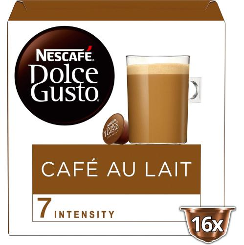NESCAFE Dolce Gusto Cafe Au Lait Coffee Pods 16 Capsules Per Box 160g