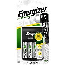 Energizer Recharge AA/AAA Base Charger with 4 x AA 1300mAh Rechargeable Batteries aa1300