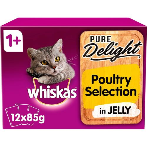 Whiskas 1+ Pure Delight Poultry Selection 12x 85g