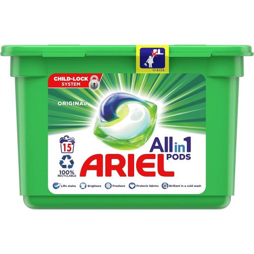 Ariel All In 1 Washing Pods Original 15 Washes 378g