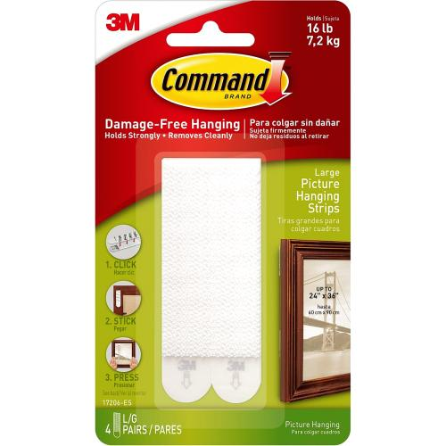 Command 3M Large Picture Hanging Strips 4 Pack