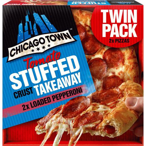 Chicago Town Takeaway Tomato Stuffed Crust Pepperoni 2x 645g