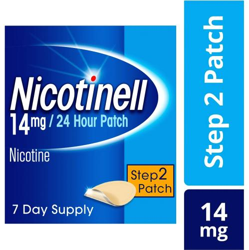 Nicotinell 14mg Nicotine 24 Hour Patch Step 2 7 Pack