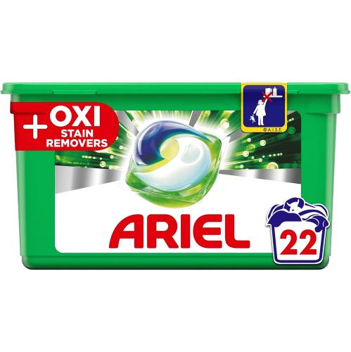 Ariel All in 1 Pods + Oxi Stain Remover 22s 22 per pack