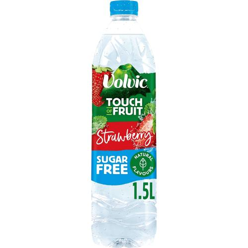 Volvic Touch of Fruit Sugar Free Strawberry Natural Flavoured Water 1.5 litre