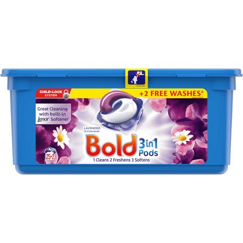 Bold Lavender and Camomile Pods 25 Washes 27 Pack