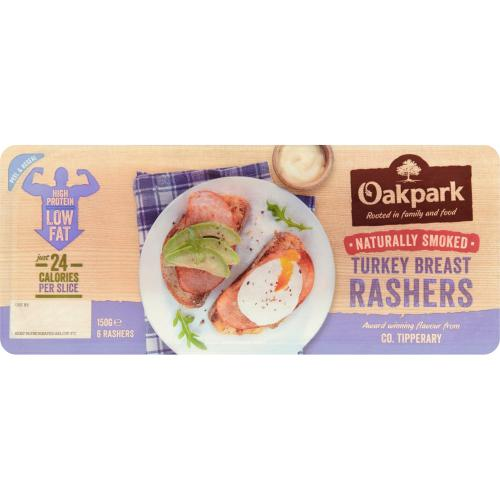 Oakpark Smoked Turkey Rashers x 6 150g