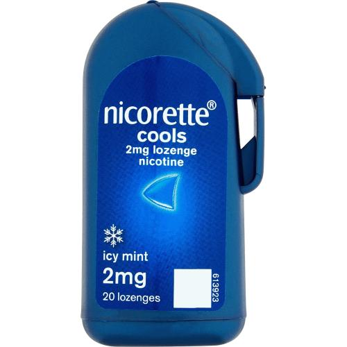 Nicorette Cools 2mg Lozenge- Icy Mint flavour- 20 lozenges (Stop Smoking Aid)