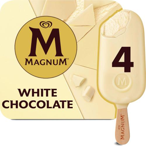 Magnum White Chocolate Ice Cream 4x 110ml