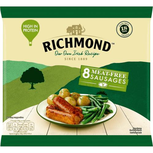 Richmond 8 Frozen Meat Free Sausages 320g
