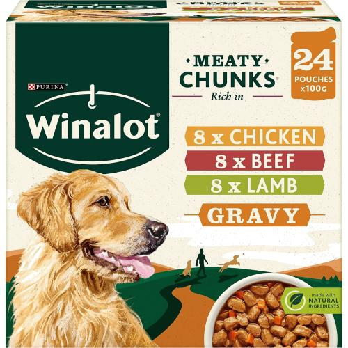 Winalot Perfect Portions Dog Food Mixed In Gravy 24x 24 x 100g