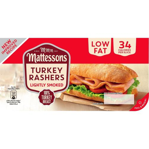Mattessons Lightly Smoked Turkey Rashers 200g