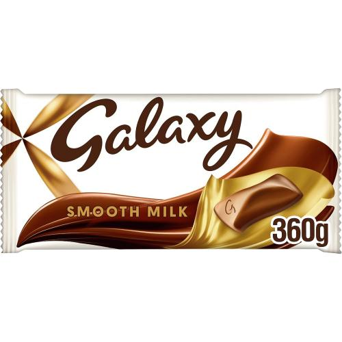 Galaxy Smooth Milk Chocolate Large Gifting Block 360g