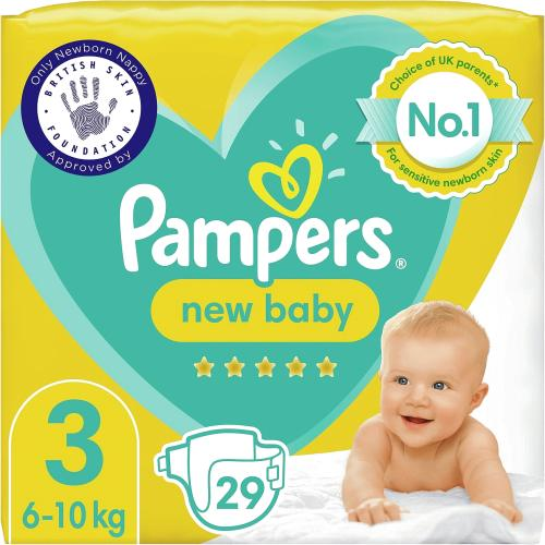 New Baby Nappies Size 3 (6-10 kg)