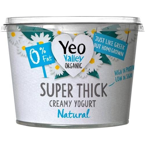 Yeo Valley Organic Super Thick 0% Fat Natural Kerned Yogurt 450g