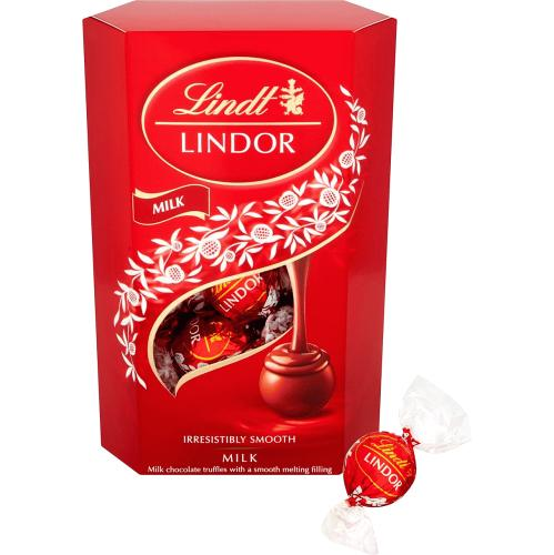 Lindt Lindor Milk Chocolate Truffles Box 200g