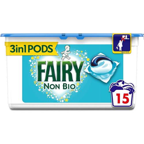 Fairy Non Biological Washing Pods 15 Washes 15 per pack