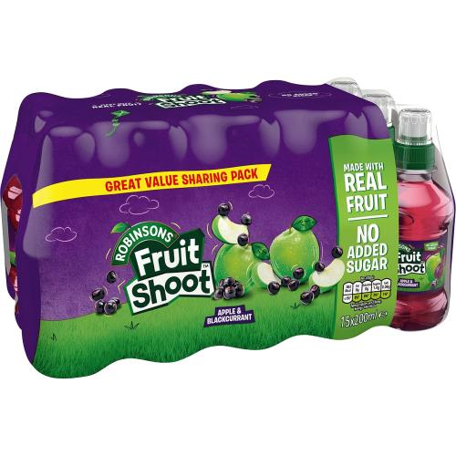 Robinsons Fruit Shoot Apple & Blackcurrant 15x 200ml