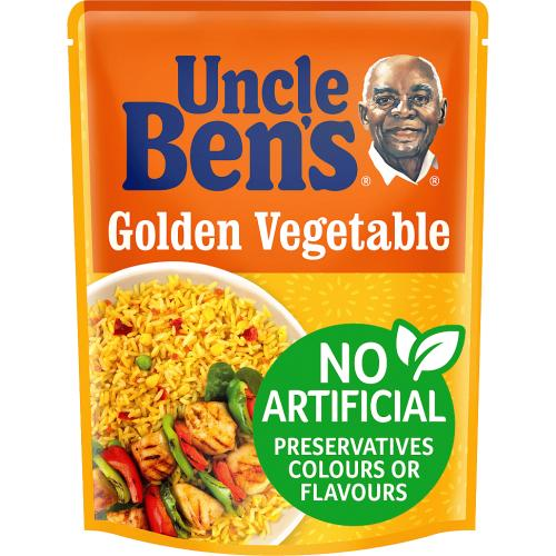 Uncle Ben's Golden Vegetable Microwave Rice 250g