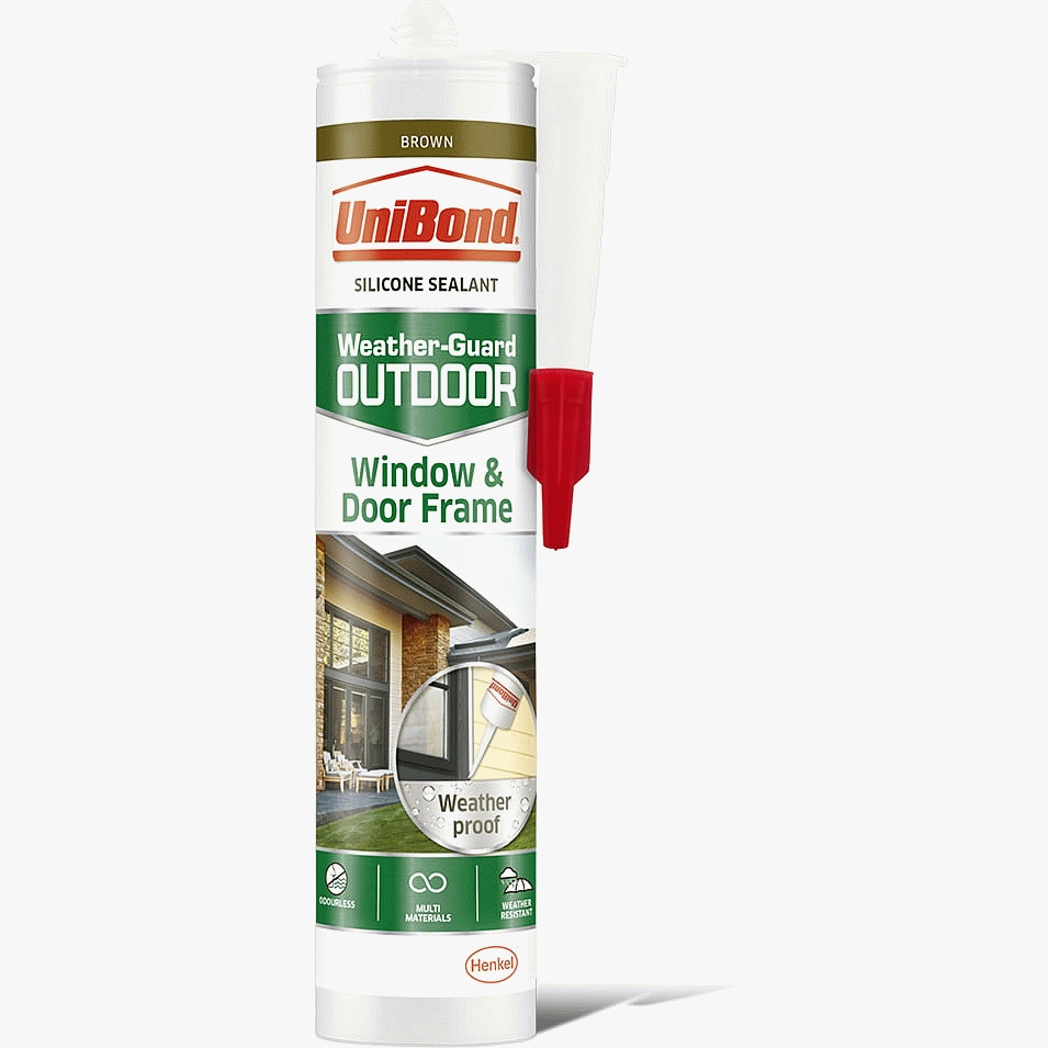 UniBond Super Interior and Exterior Brown Window and Door Frame Sealant 300ml