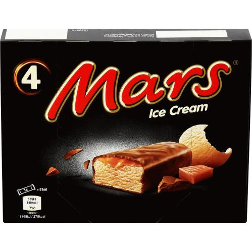 Mars Chocolate Caramel Ice Cream Bar 4x 51ml