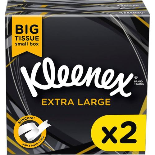 Kleenex Extra Large Tissues 2 Boxes 2 Pack