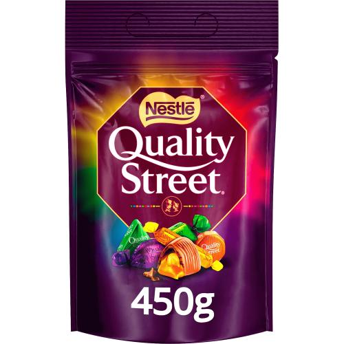 Quality Street Christmas Chocolate, Toffee and Cremes Sharing Bag 450g