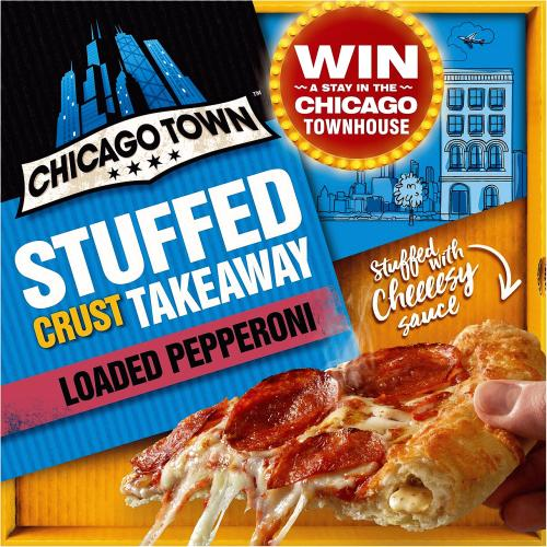 Chicago Town Takeaway Large Cheesy Stuffed Pepperoni Pizza 640g