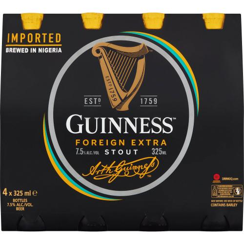 Guinness Foreign Extra Stout 4x 325ml
