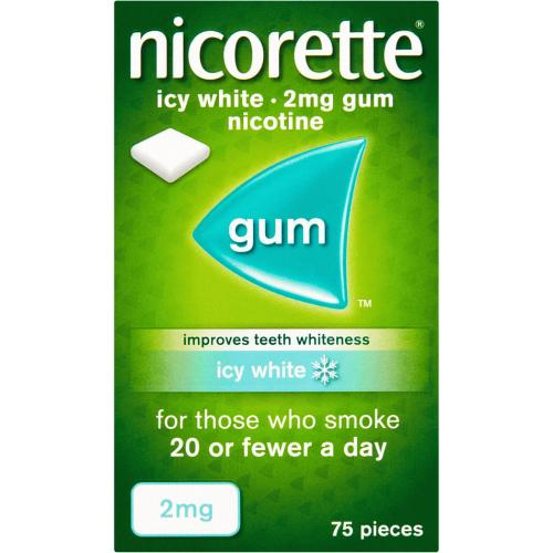 Nicorette Gum Icy White 2mg 75 Pack 75 Pack