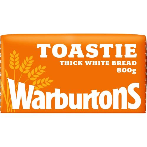 Warburtons Toastie Thick Sliced White Bread 800g