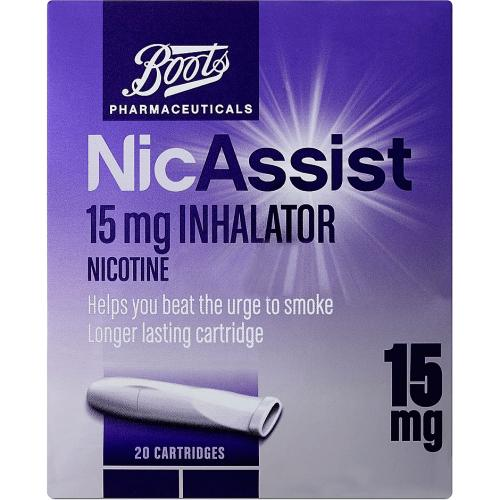 Boots NicAssist 15mg Inhalator 20 Cartridges