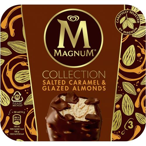 Magnum Salted Caramel & Glazed Almond Ice Cream 3x 270ml