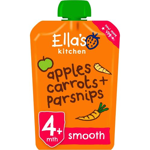 Ella's Kitchen Organic Apples, Carrots and Parsnips Baby Pouch 4+ Months 120g