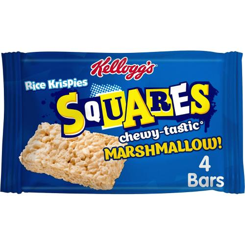Kellogg's Rice Krispies Squares Marshmallow Snack Bar, (Pack of 4) 4 x 28g