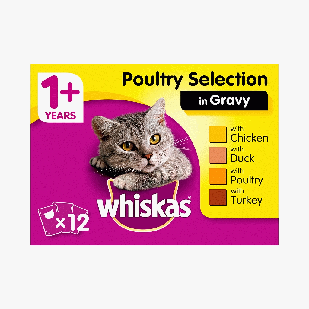 Whiskas 1+ Poultry Selection in Gravy 100g