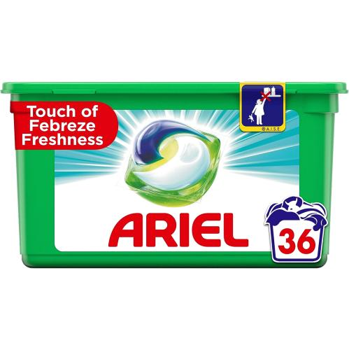 Ariel All In One Washing Pod Febreze 36 Washes 36 Pack