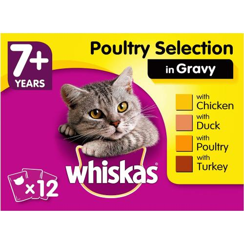 Whiskas 7+ Poultry Selection in Gravy 100g