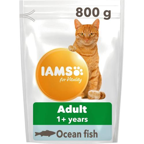 Iams For Vitality Adult 1+ Years With Ocean Fish 800g