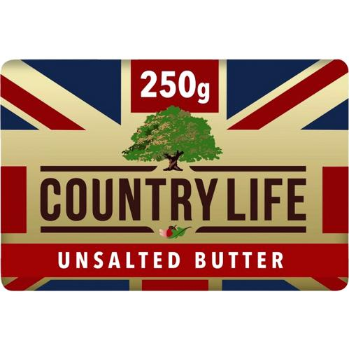 Country Life British Unsalted Butter 250g